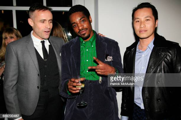 Thom Browne Andre 3000 Benjamin and Phillip Lim attend GQ/CFDA Honor Second Annual Best New Menswear Designer in America Finalists at Rockefeller...