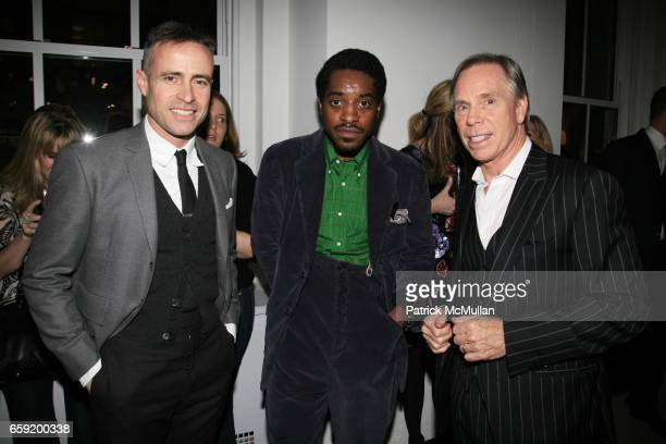 Thom Browne Andre 3000 Benjamin and Tommy Hilfiger attend GQ/CFDA Honor Second Annual Best New Menswear Designer in America Finalists at Rockefeller...