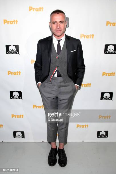 Thom Browne attends the 114th Annual Pratt Institute Fashion Show at Center 548 on April 25 2013 in New York City