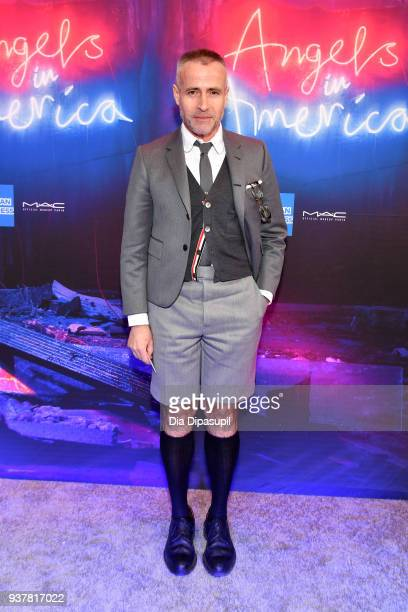 Thom Browne attends the Angels in America Broadway Opening Night part 1 arrivals at the Neil Simon Theatre on March 25 2018 in New York City