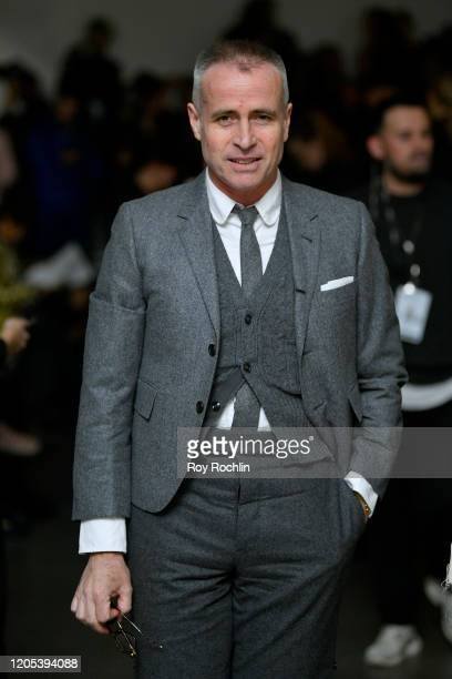 Thom Browne attends the Libertine front row during New York Fashion Week: The Shows at Gallery II at Spring Studios on February 10, 2020 in New York...