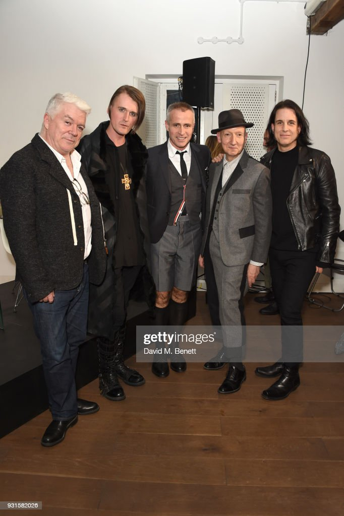 Thom Browne, Gareth Pugh, Thom Browne, Stephen Jones and Tod Lyn attend Thom Browne In Conversation with Sarabande: The Lee Alexander McQueen Foundation on March 13, 2018 in London, England.