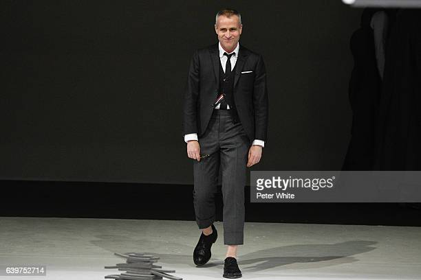 Thom Browne walks the runway during the Thom Browne Menswear Fall/Winter 20172018 show as part of Paris Fashion Week on January 22 2017 in Paris...