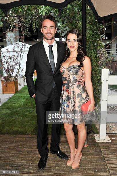 Thom Evans and Jessica Lowndes attend annual fundraiser in aid of Gabrielle's Angel Foundation for Cancer Research at Battersea Power station on May...