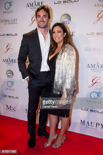 Thom Evans and Maria Bravo attend at the 2nd Annual Global Gift Ronan Keating Golf Tournament Dinner and Concert on November 04 2017 in Marbella Spain