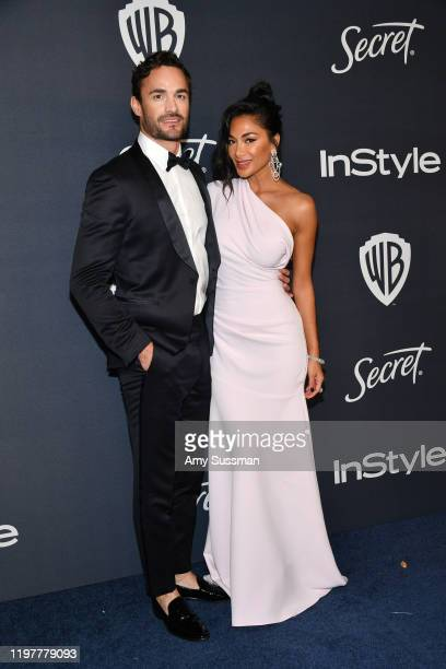 Thom Evans and Nicole Scherzinger attend the 21st Annual Warner Bros And InStyle Golden Globe After Party at The Beverly Hilton Hotel on January 05...