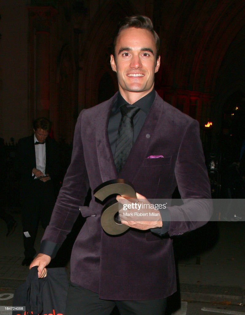 Thom Evans attending the Attitude Magazine Awards on October 15, 2013 in London, England.
