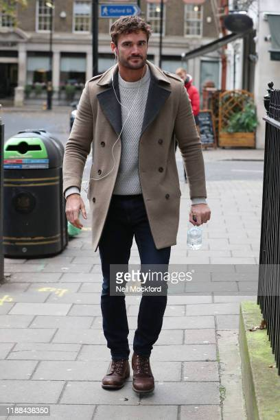 Thom Evans from XFactor 2019 group Try Star seen arriving at a studio on November 18 2019 in London England