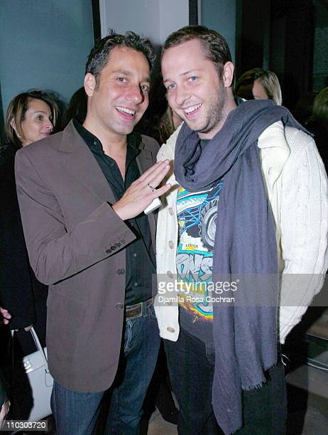 Thom Filicia and Derek Blasberg during Launch of Design 21 Social Design Network at Fellissimo Townhouse in New York City New York United States