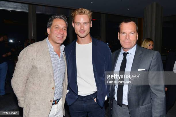 Thom Filicia Andrew Churchill and Scott Currie attend Magrino PR 25th Anniversary at Bar SixtyFive at Rainbow Room on July 25 2017 in New York City