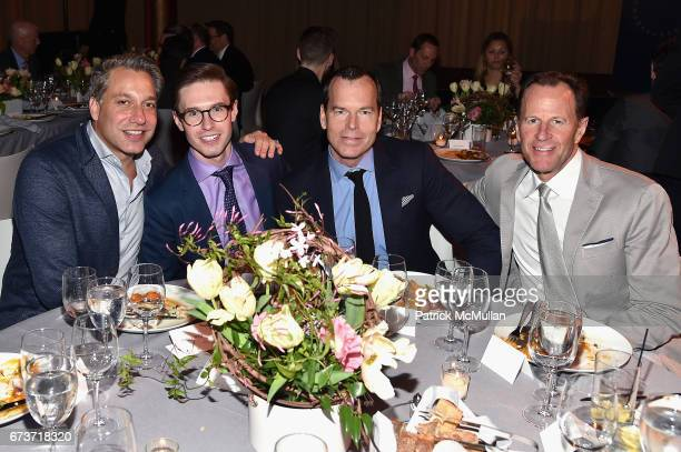 Thom Filicia Andrew Nodell Scott Currie and James Anderson attend Housing Works' Groundbreaker Awards Dinner 2017 at Metropolitan Pavilion on April...