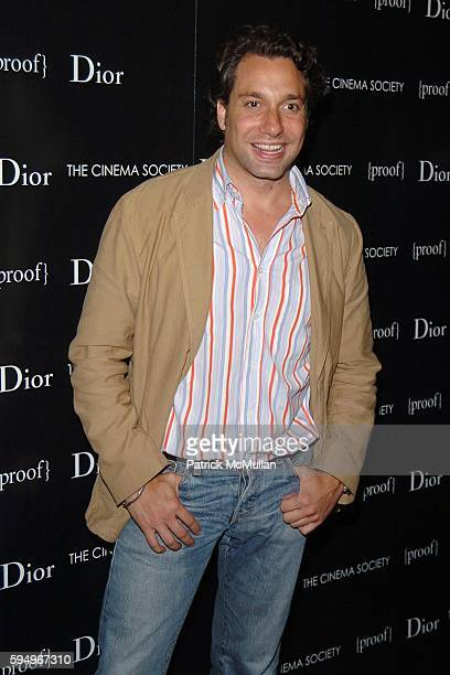 Thom Filicia attends DIOR THE CINEMA SOCIETY present a screening of Hart Sharp Entertainment Miramax Films' Proof at 165 Charles St on September 14...