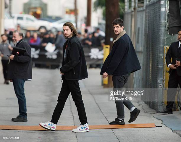 Thom Green and Cameron Knight of the band 'altJ' at 'Jimmy Kimmel Live' on December 15 2014 in Los Angeles California