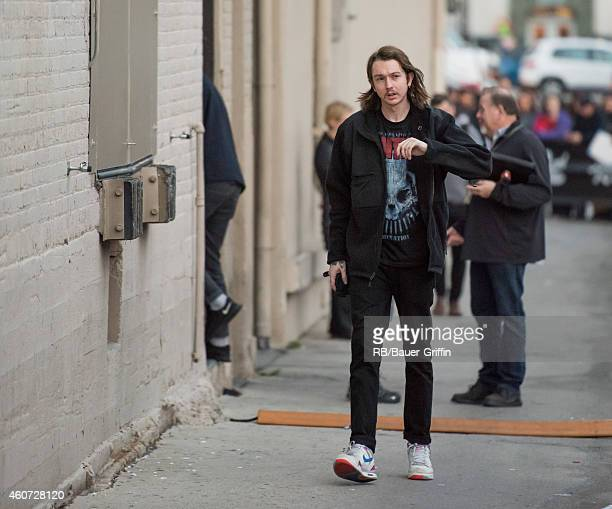 Thom Green of the band 'altJ' at 'Jimmy Kimmel Live' on December 15 2014 in Los Angeles California