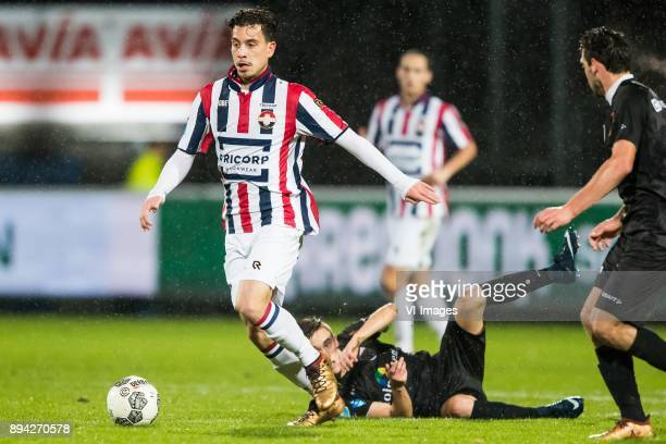 Thom Haye of Willem II Ryan Thomas of PEC Zwolle Dirk Marcellis of PEC Zwolle during the Dutch Eredivisie match between Willem II Tilburg and PEC...