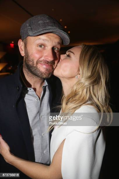 Thom Hinkle and wife Laura Bell Bundy pose at the after party for 'Double Standards' a concert benefitting womans rights heath and empowerment...