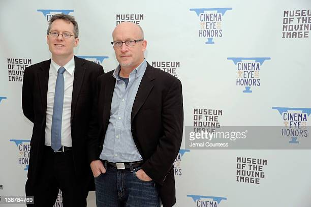 Thom Powers and director Alex Gibney attend the 5th Annual Cinema Eye Honors for Nonfiction Filmmaking at the Museum of the Moving Image on January...