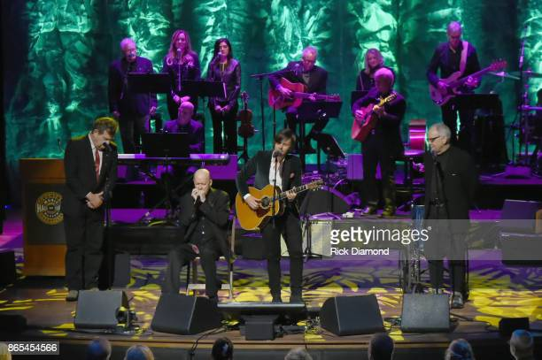 Thom Schuyler Kirk 'Jelly Roll' Johnson Charlie Worsham and Fred Knobloch perform onstage at the Country Music Hall of Fame and Museum Medallion...