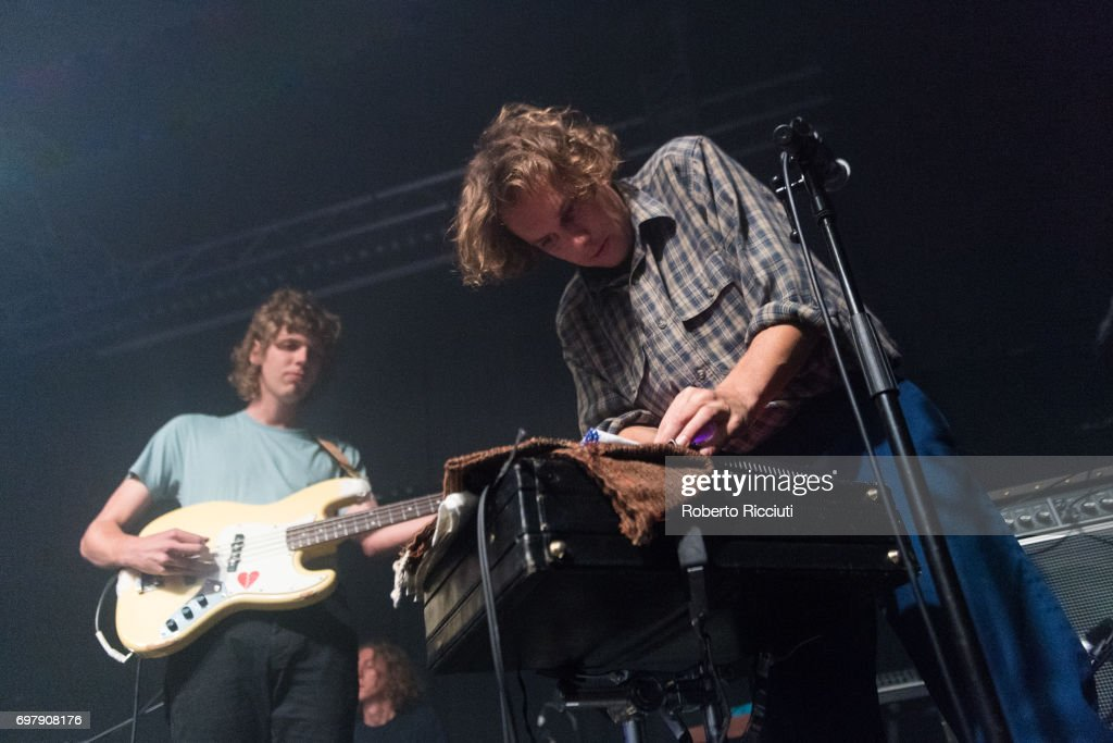 Thom Stewart and Jake Webb of Australian band Methyl Ethel perform on stage at The Art School on June 19, 2017 in Glasgow, Scotland.