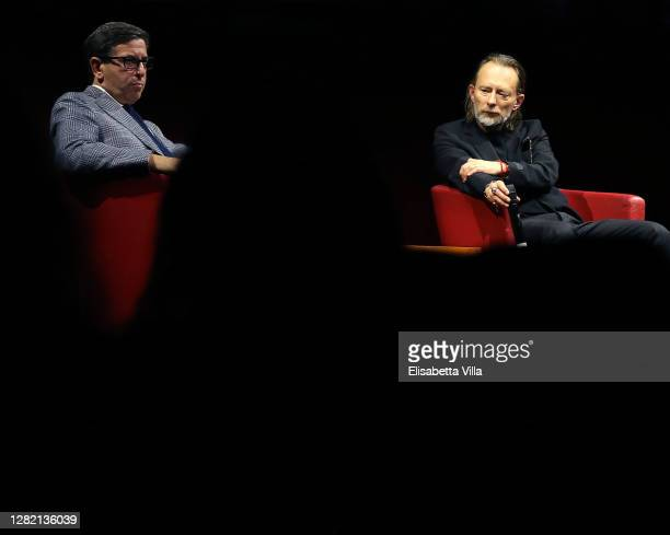 Thom Yorke and artistic director Antonio Monda attend the Close Encounter with Thom Yorke during the 15th Rome Film Festival on October 24, 2020 in...