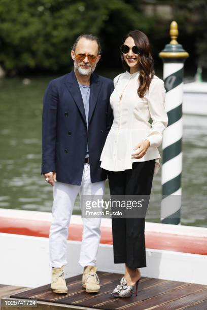Thom Yorke and Dajana Roncione are seen during the 75th Venice Film Festival on September 1 2018 in Venice Italy