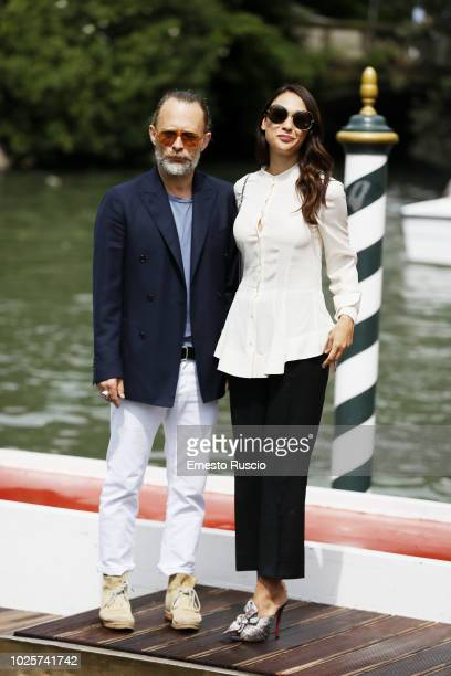 Thom Yorke and Dajana Roncione are seen during the 75th Venice Film Festival on September 1, 2018 in Venice, Italy.