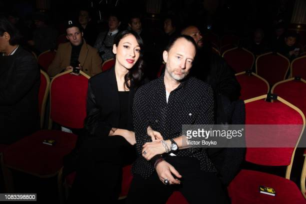 Thom Yorke and Dajana Roncione attend the Undercover Menswear Fall/Winter 2019-2020 show as part of Paris Fashion Week on January 16, 2019 in Paris,...