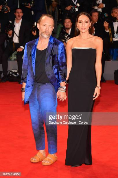 Thom Yorke and Dajana Roncione walk the red carpet ahead of the 'Suspiria' screening during the 75th Venice Film Festival at Sala Grande on September...