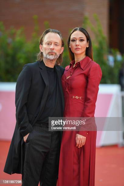 Thom Yorke and Dajana Roncione walk the red carpet during the 15th Rome Film Festival on October 24, 2020 in Rome, Italy.