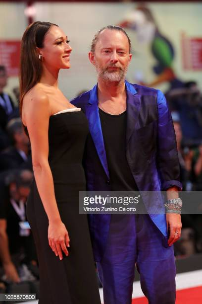 Thom Yorke and Dajana Roncione walks the red carpet ahead of the 'Suspiria' screening during the 75th Venice Film Festival at Sala Grande on...