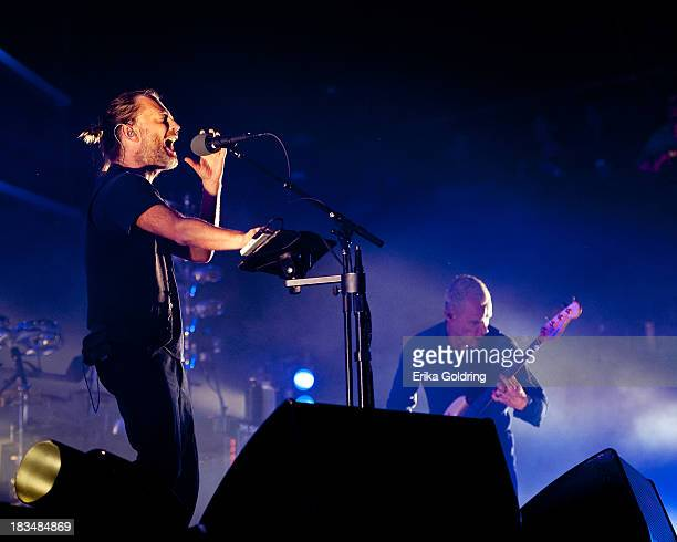Thom Yorke and Michael Peter Balzary aka Flea of the band Atoms For Peace perform on day 3 of Austin City Limits Festival at Zilker Park on October 6...