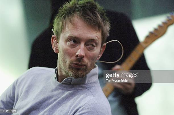 Thom Yorke and Radiohead perform part of the bands North American Tour 2006 at the Greek Theater on June 23 2006 in Berkeley California