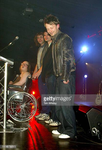 Thom Yorke during NME Awards 2004 Show at Hamersmith Palais in London United Kingdom