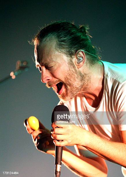 Thom Yorke of Atoms for Peace performs at Heineken Music Hall on July 7 2013 in Amsterdam Netherlands