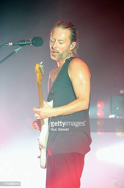 Thom Yorke of Atoms For Peace performs on stage at The Roundhouse on July 24 2013 in London England