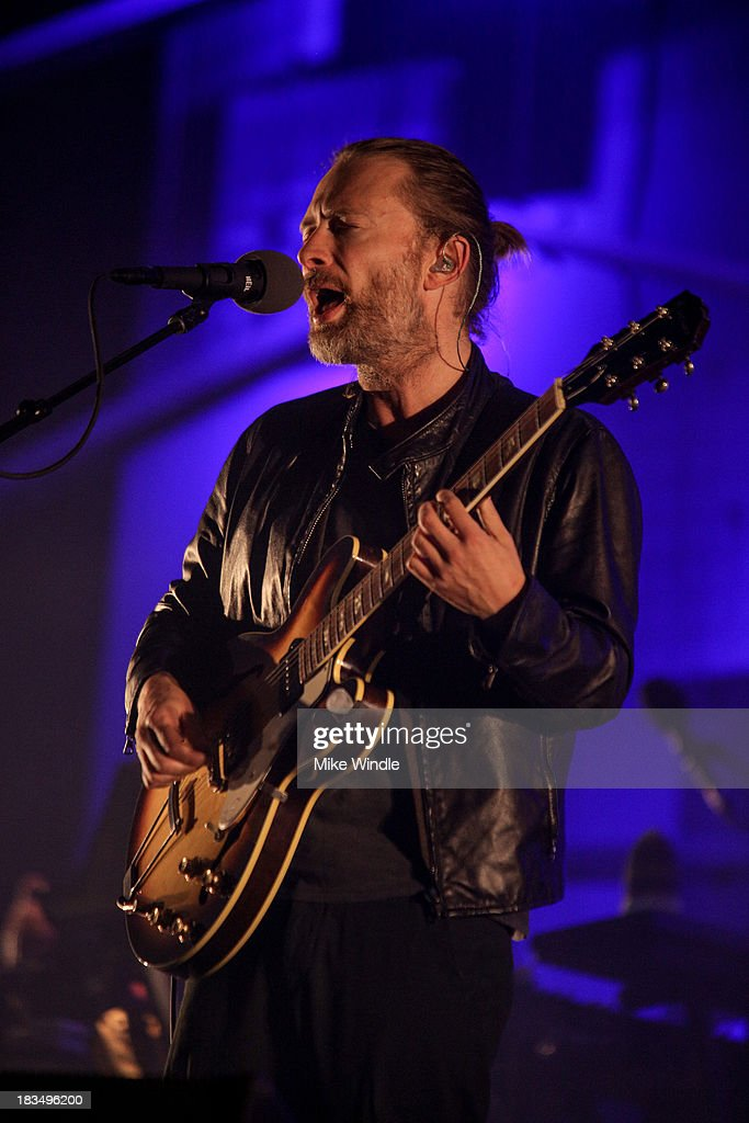 Thom Yorke of Atoms For Peace performs onstage during Day 3 of the 2013 Austin City Limits Music Festival at Zilker Park on October 6, 2013 in Austin, Texas.