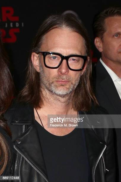 Thom Yorke of Radiohead attends the premiere of Disney Pictures and Lucasfilm's 'Star Wars The Last Jedi' at The Shrine Auditorium on December 9 2017...