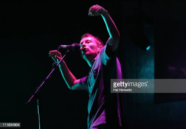 Thom Yorke of Radiohead during Bonnaroo 2006 - Day 2 - Radiohead at What Stage in Manchester, Tennessee, United States.