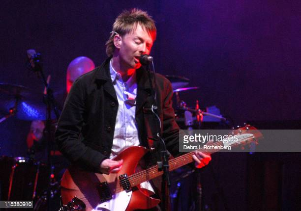 Thom Yorke of Radiohead during Radiohead Performs at The Beacon Theater at Beacon Theater in New York City New York United States