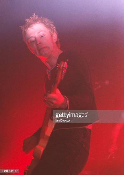 Thom Yorke of Radiohead performing on stage at Town Country Club Kentish Town London 14 March 1993