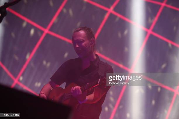 Thom Yorke of Radiohead performs at 3Arena Dublin on June 20 2017 in Dublin Ireland