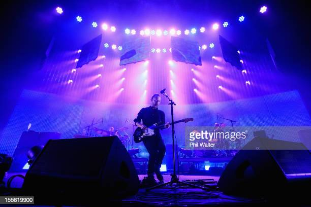 Thom Yorke of Radiohead performs at at Vector Arena on November 6 2012 in Auckland New Zealand