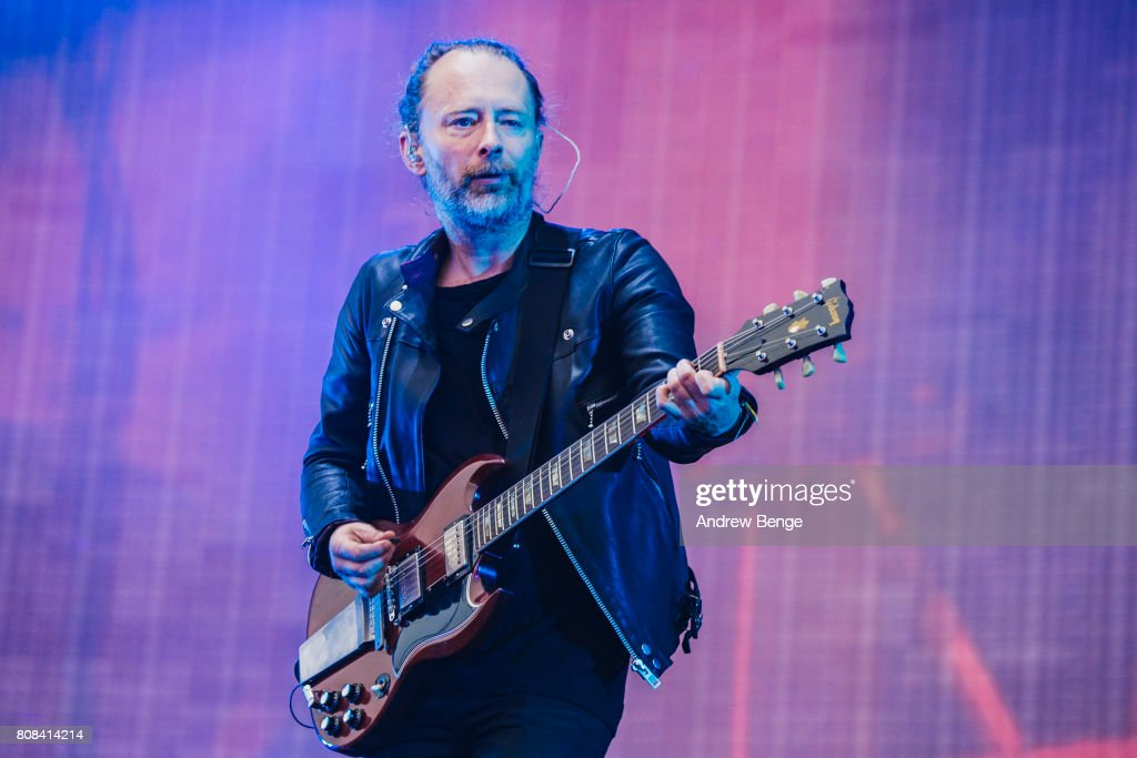 Radiohead Perform At Emirates Old Trafford : News Photo