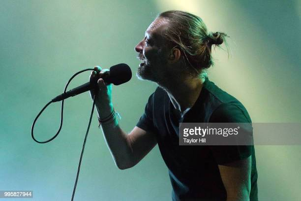 Thom Yorke of Radiohead performs at Madison Square Garden on July 10 2018 in New York City