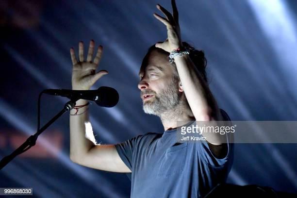 CITY NY Thom Yorke of Radiohead performs at Madison Square Garden on July 11 2018 in New York City NY