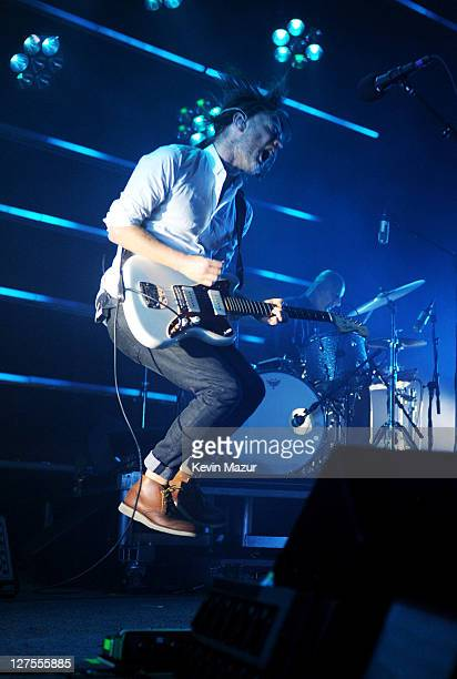 Thom Yorke of Radiohead performs at Roseland Ballroom on September 28 2011 in New York City