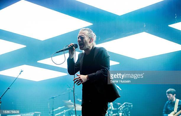 Thom Yorke of Radiohead performs at the 02 Arena on October 8 2012 in London England