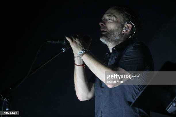Thom Yorke of Radiohead performs at the 3Arena Dublin on June 20 2017 in Dublin Ireland