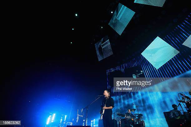 Thom Yorke of Radiohead performs at Vector Arena on November 6 2012 in Auckland New Zealand