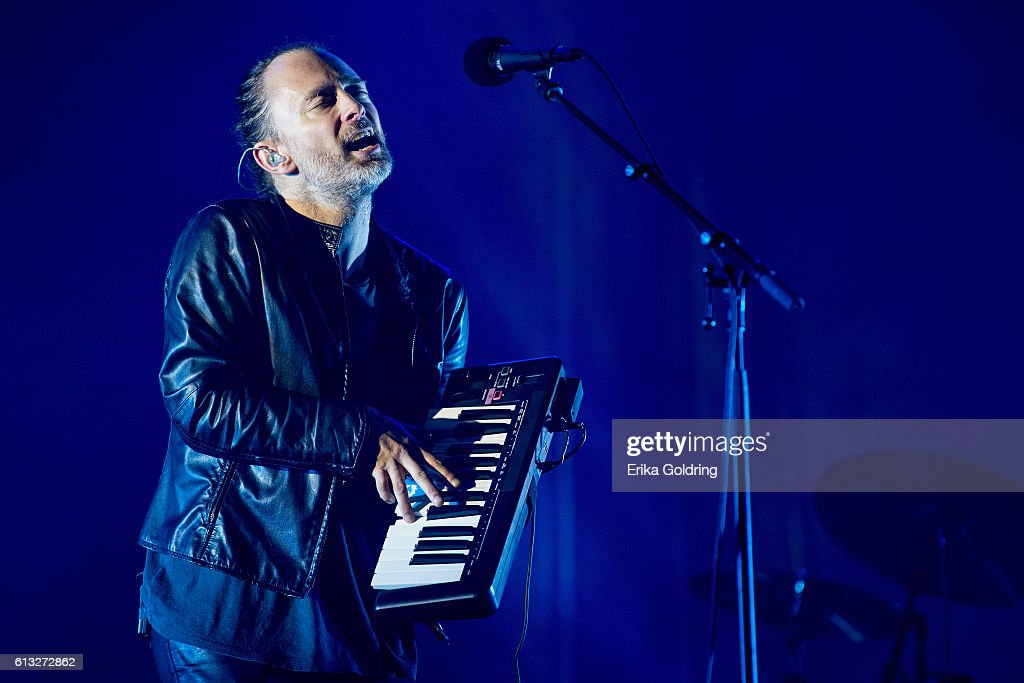 Thom Yorke of Radiohead performs at Zilker Park on October 7, 2016 in Austin, Texas.